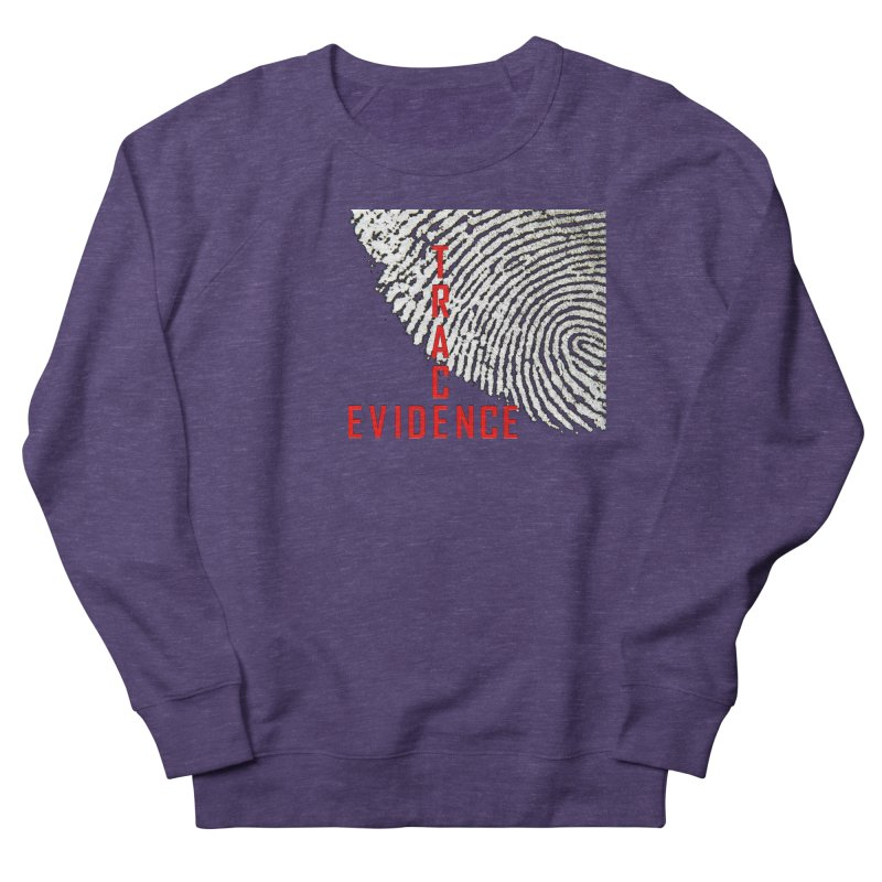 Text Logo - Red Women's French Terry Sweatshirt by Trace Evidence - A True Crime Podcast