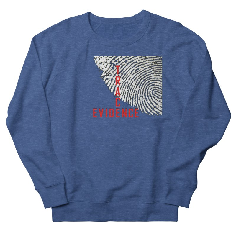 Text Logo - Red Men's Sweatshirt by Trace Evidence - A True Crime Podcast
