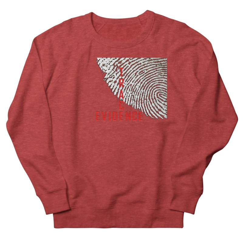Text Logo - Red Men's French Terry Sweatshirt by Trace Evidence - A True Crime Podcast