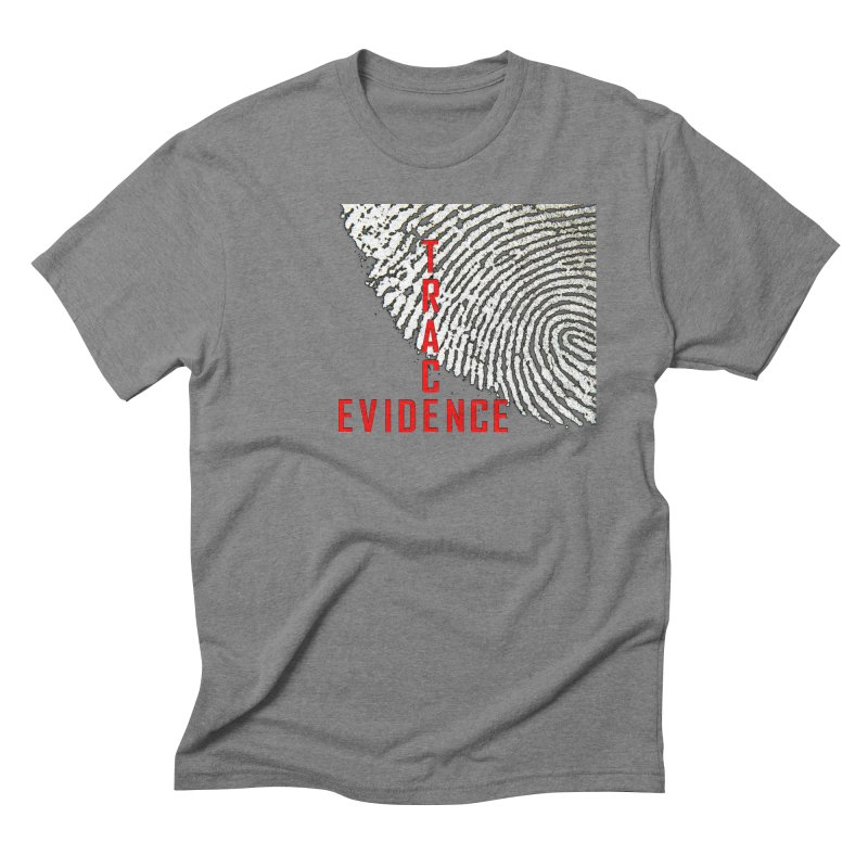 Text Logo - Red Men's Triblend T-Shirt by Trace Evidence - A True Crime Podcast