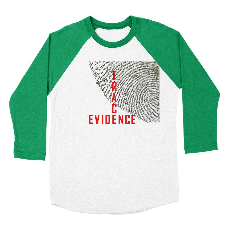 Text Logo - Red Men's Baseball Triblend Longsleeve T-Shirt by Trace Evidence - A True Crime Podcast