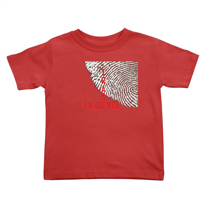 Text Logo - Red Kids Toddler T-Shirt by Trace Evidence - A True Crime Podcast
