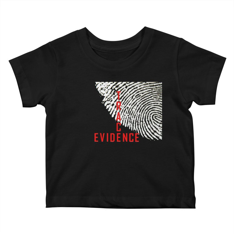 Text Logo - Red Kids Baby T-Shirt by Trace Evidence - A True Crime Podcast