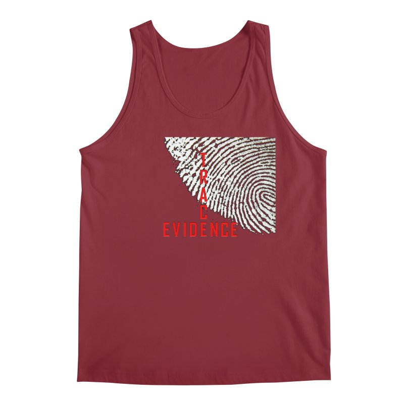 Text Logo - Red Men's Tank by Trace Evidence - A True Crime Podcast
