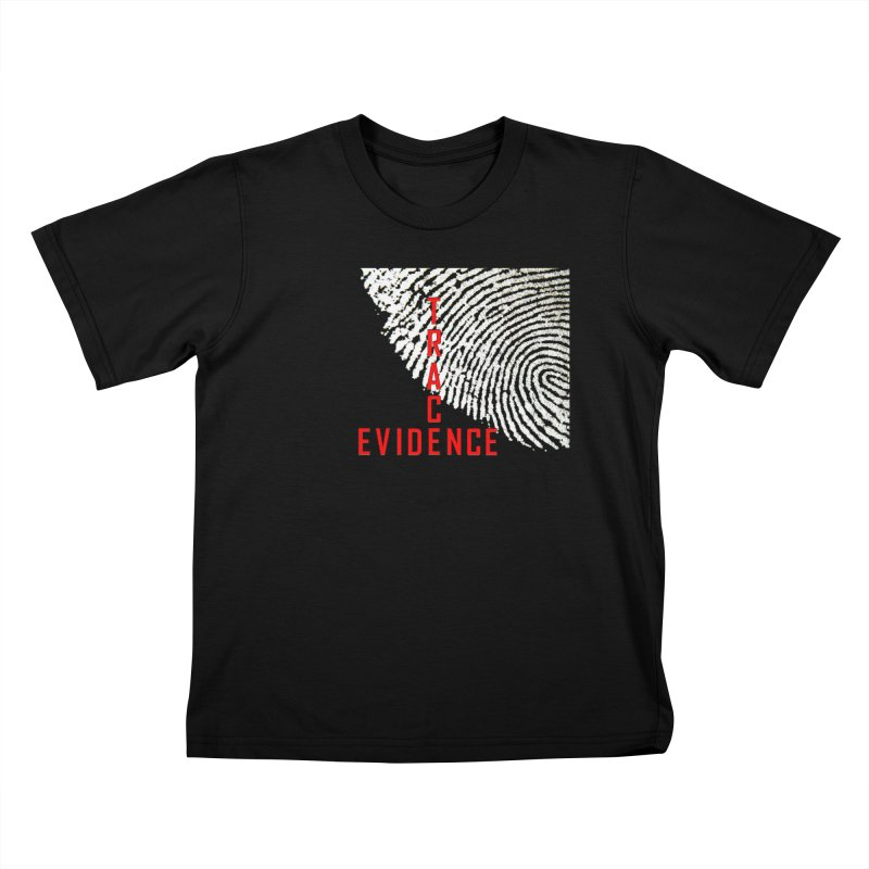 Text Logo - Red Kids T-Shirt by Trace Evidence - A True Crime Podcast