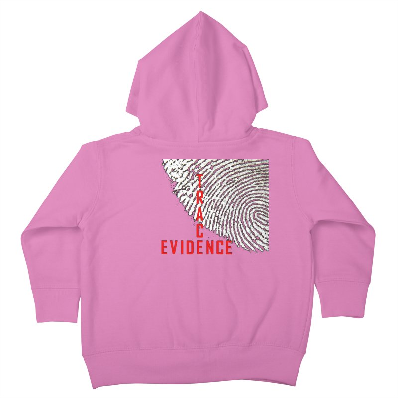 Text Logo - Red Kids Toddler Zip-Up Hoody by Trace Evidence - A True Crime Podcast