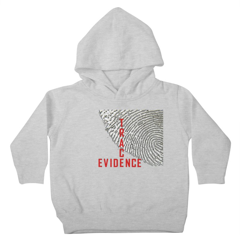 Text Logo - Red Kids Toddler Pullover Hoody by Trace Evidence - A True Crime Podcast