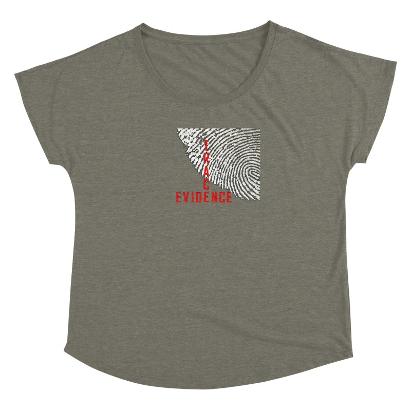 Text Logo - Red Women's Dolman Scoop Neck by Trace Evidence - A True Crime Podcast