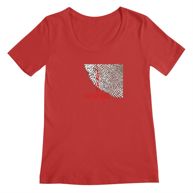 Text Logo - Red Women's Regular Scoop Neck by Trace Evidence - A True Crime Podcast