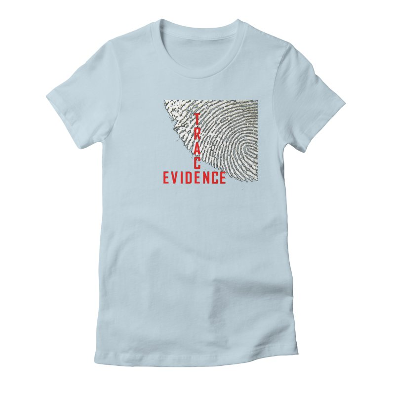 Text Logo - Red Women's Fitted T-Shirt by Trace Evidence - A True Crime Podcast