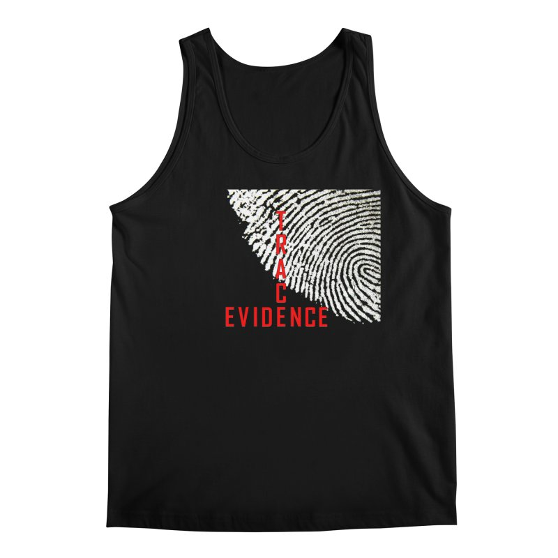 Text Logo - Red Men's Regular Tank by Trace Evidence - A True Crime Podcast