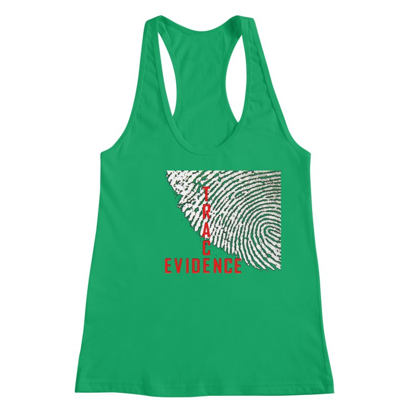 Text Logo - Red Women's Tank by Trace Evidence - A True Crime Podcast
