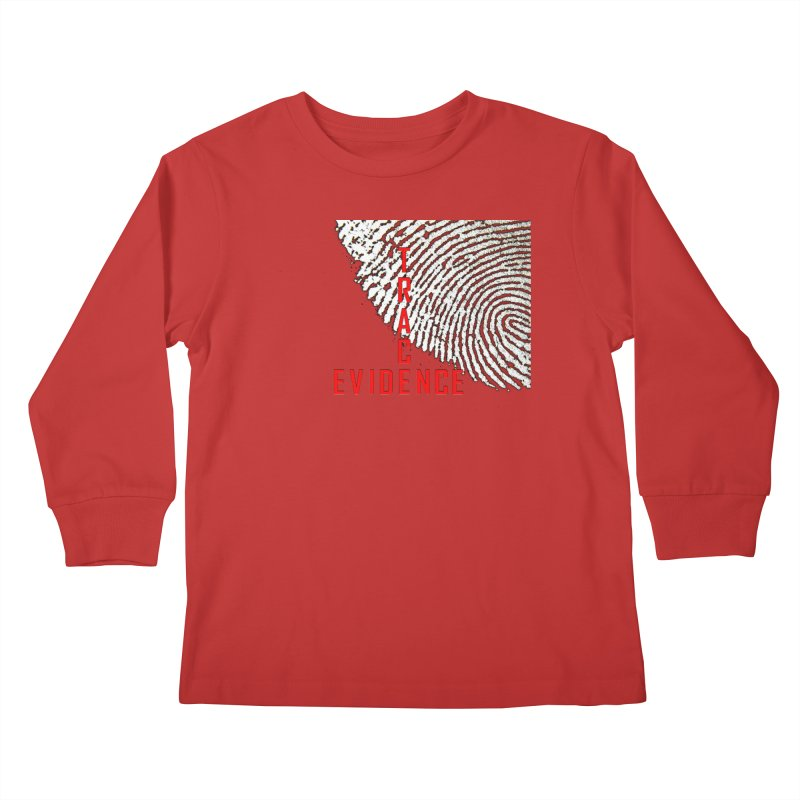 Text Logo - Red Kids Longsleeve T-Shirt by Trace Evidence - A True Crime Podcast