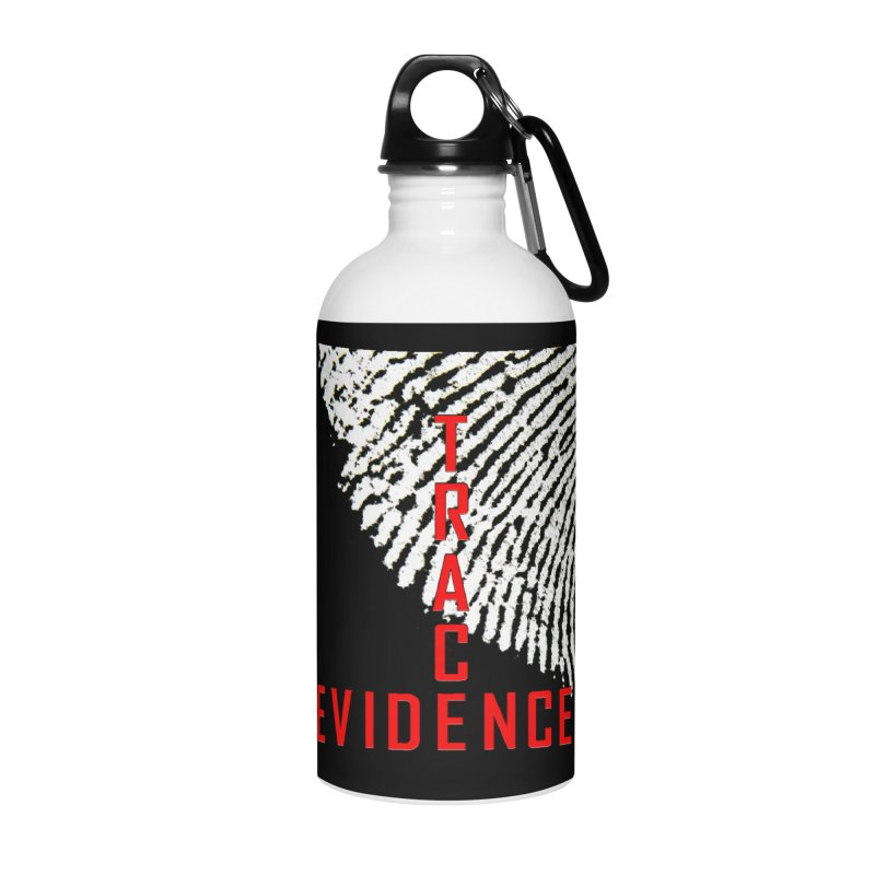 Text Logo - Red Accessories Water Bottle by Trace Evidence - A True Crime Podcast