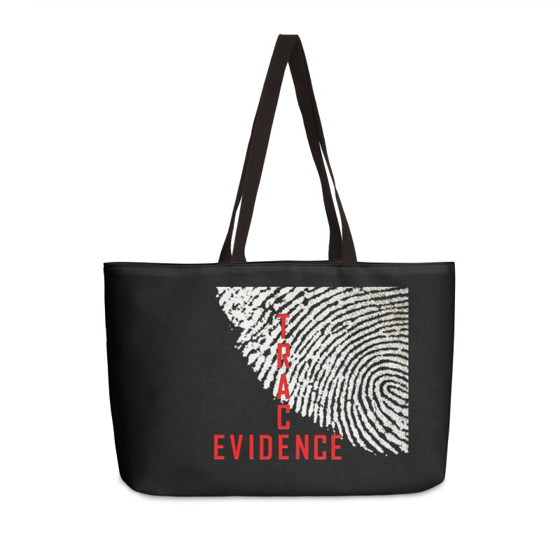 Text Logo - Red Accessories Weekender Bag Bag by Trace Evidence - A True Crime Podcast