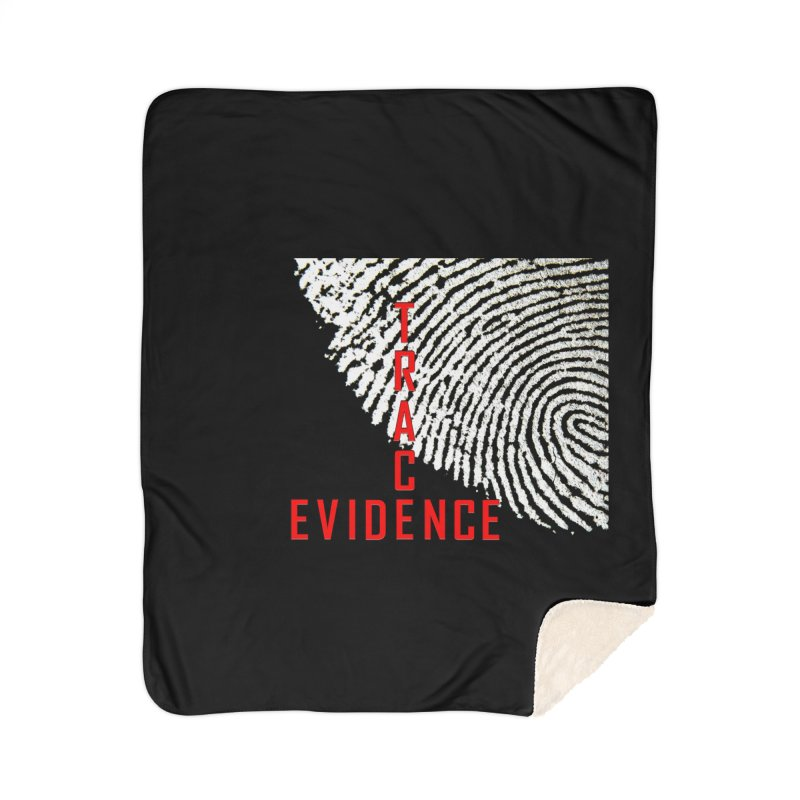 Text Logo - Red Home Sherpa Blanket Blanket by Trace Evidence - A True Crime Podcast