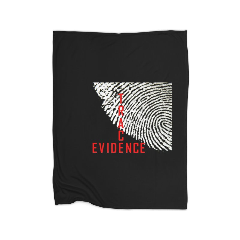 Text Logo - Red Home Fleece Blanket Blanket by Trace Evidence - A True Crime Podcast