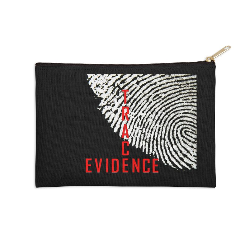 Text Logo - Red Accessories Zip Pouch by Trace Evidence - A True Crime Podcast
