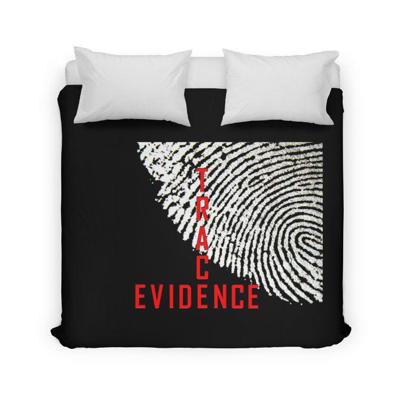 Text Logo - Red Home Duvet by Trace Evidence - A True Crime Podcast