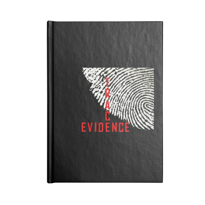 Text Logo - Red Accessories Blank Journal Notebook by Trace Evidence - A True Crime Podcast