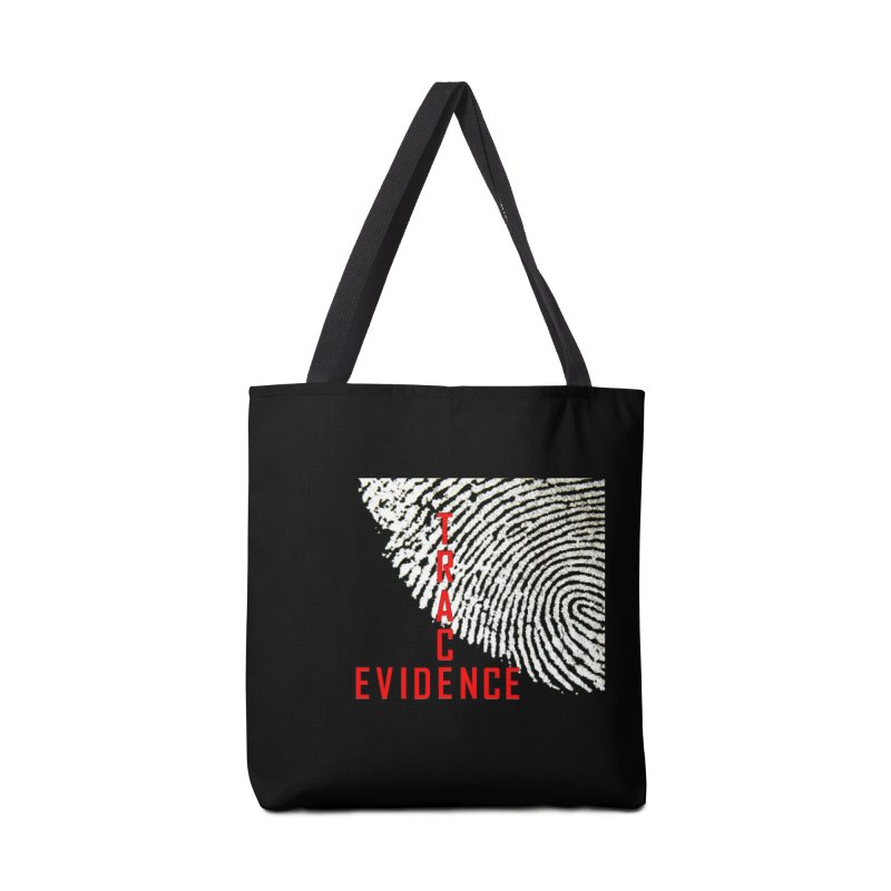 Text Logo - Red Accessories Tote Bag Bag by Trace Evidence - A True Crime Podcast