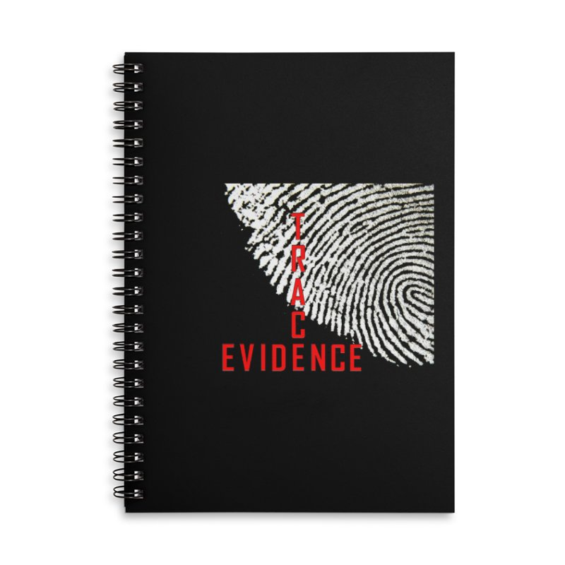 Text Logo - Red Accessories Lined Spiral Notebook by Trace Evidence - A True Crime Podcast