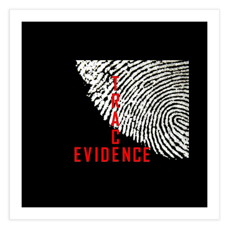 Text Logo - Red Home Fine Art Print by Trace Evidence - A True Crime Podcast