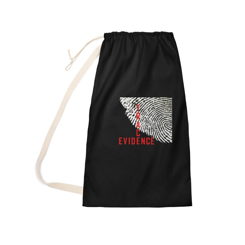 Text Logo - Red Accessories Laundry Bag Bag by Trace Evidence - A True Crime Podcast
