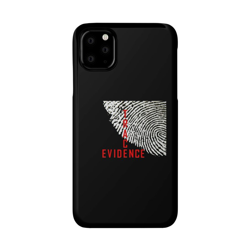 Text Logo - Red Accessories Phone Case by Trace Evidence - A True Crime Podcast