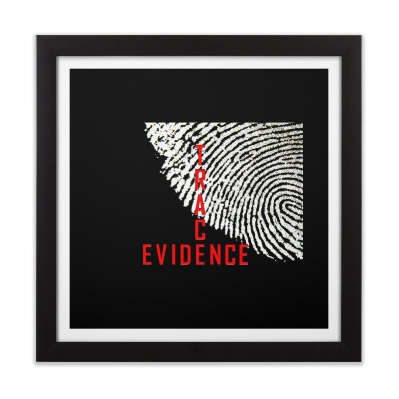 Text Logo - Red Home Framed Fine Art Print by Trace Evidence - A True Crime Podcast