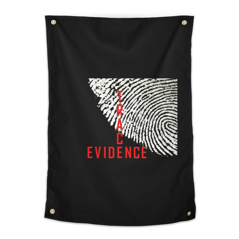 Text Logo - Red Home Tapestry by Trace Evidence - A True Crime Podcast