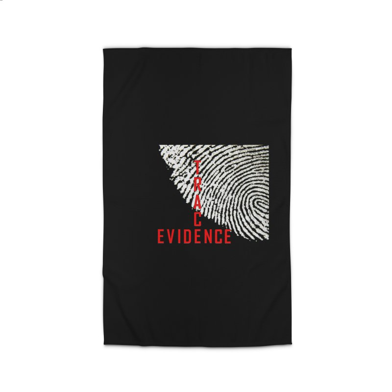 Text Logo - Red Home Rug by Trace Evidence - A True Crime Podcast