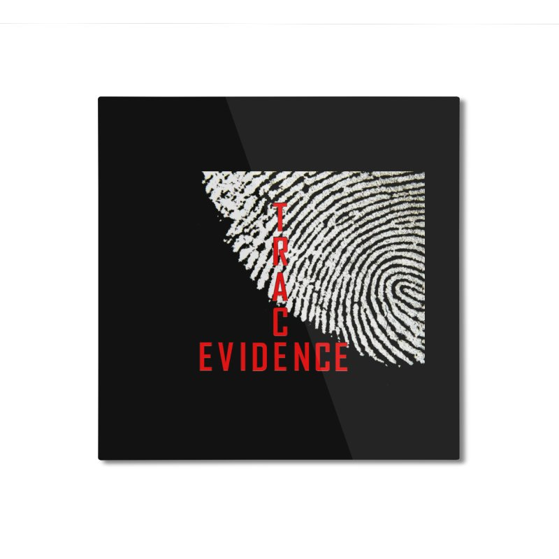 Text Logo - Red Home Mounted Aluminum Print by Trace Evidence - A True Crime Podcast