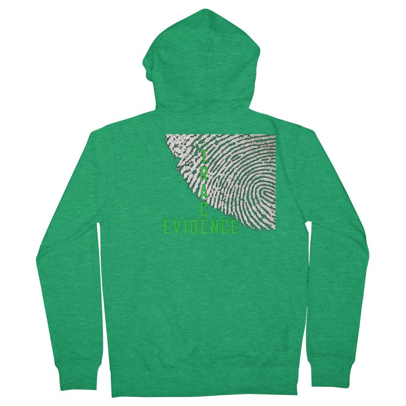 Text Logo - Green Women's Zip-Up Hoody by Trace Evidence - A True Crime Podcast