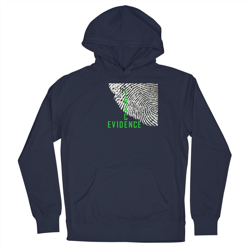 Text Logo - Green Men's Pullover Hoody by Trace Evidence - A True Crime Podcast