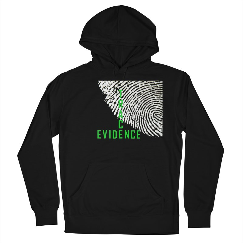 Text Logo - Green Women's French Terry Pullover Hoody by Trace Evidence - A True Crime Podcast