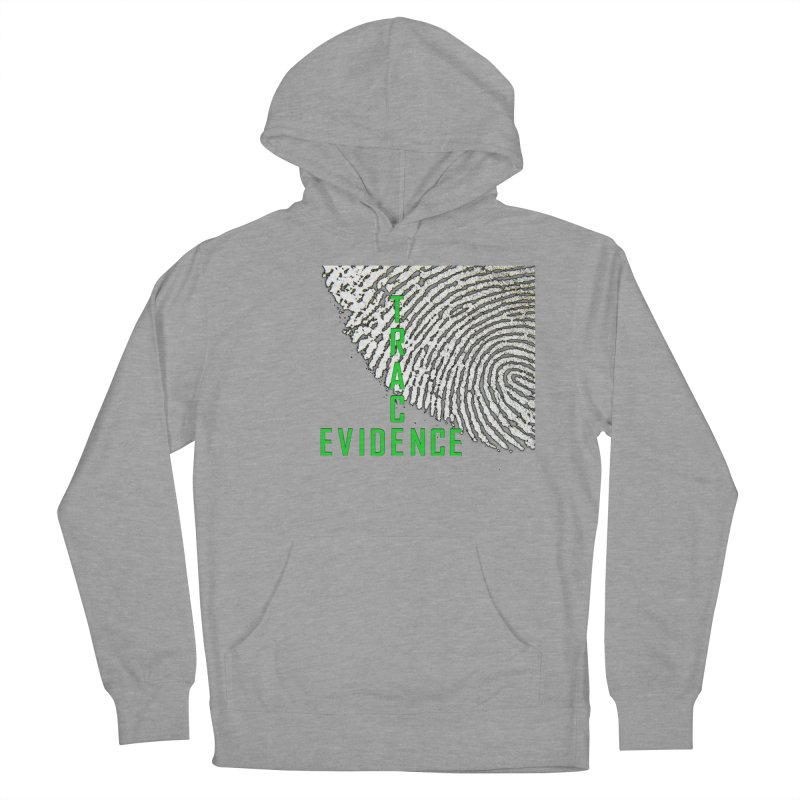 Text Logo - Green Men's French Terry Pullover Hoody by Trace Evidence - A True Crime Podcast