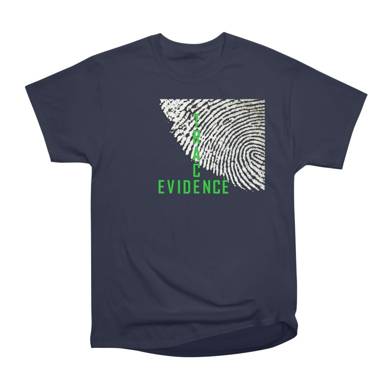 Text Logo - Green Women's Heavyweight Unisex T-Shirt by Trace Evidence - A True Crime Podcast