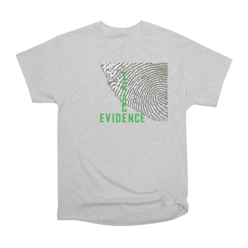 Text Logo - Green Men's Heavyweight T-Shirt by Trace Evidence - A True Crime Podcast