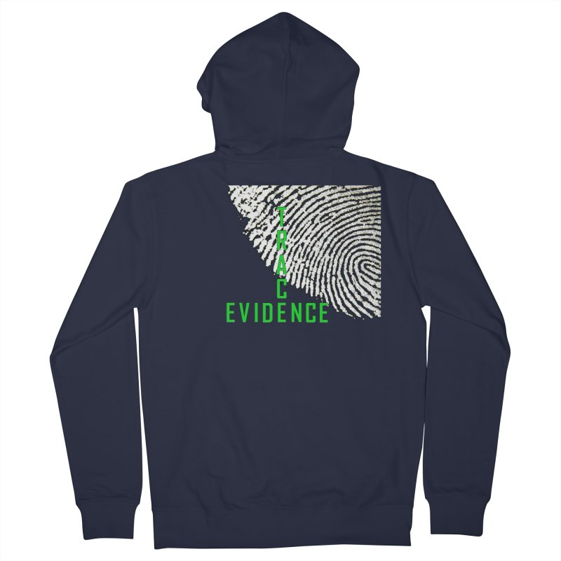 Text Logo - Green Women's French Terry Zip-Up Hoody by Trace Evidence - A True Crime Podcast