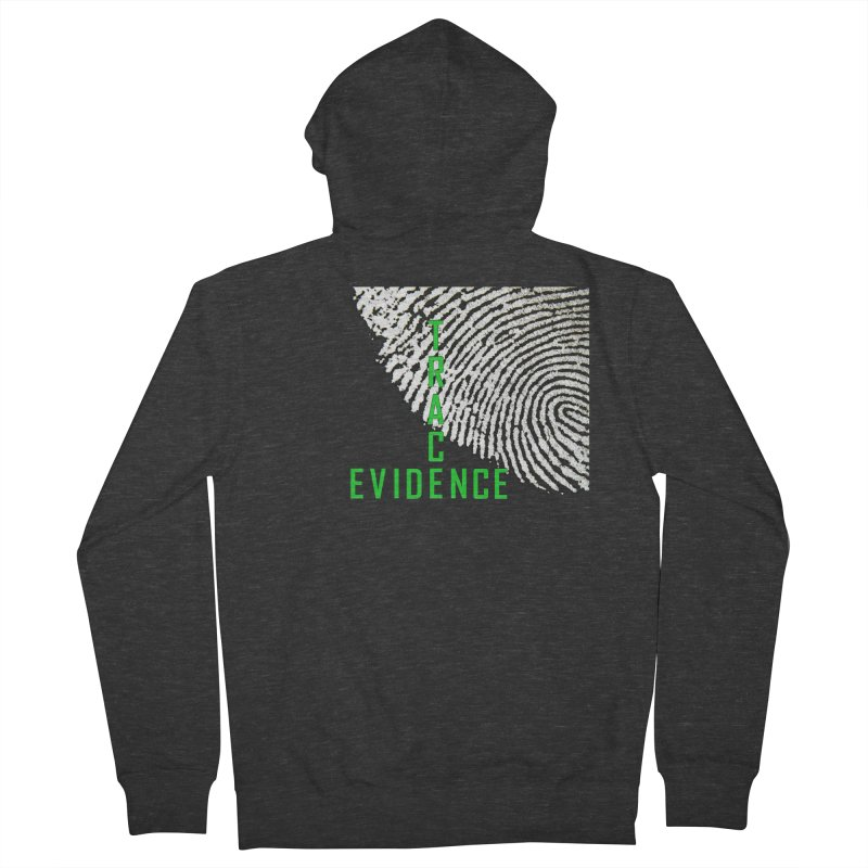 Text Logo - Green Men's French Terry Zip-Up Hoody by Trace Evidence - A True Crime Podcast