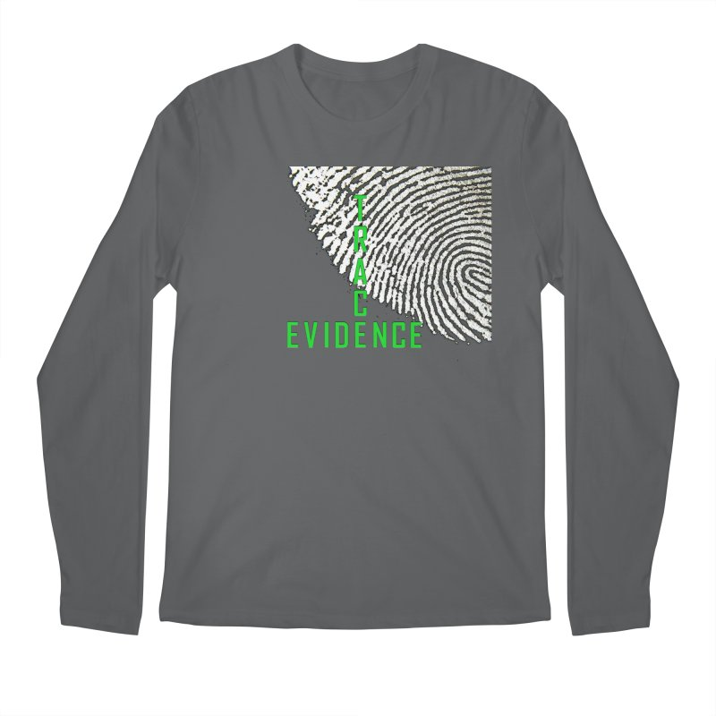 Text Logo - Green Men's Longsleeve T-Shirt by Trace Evidence - A True Crime Podcast