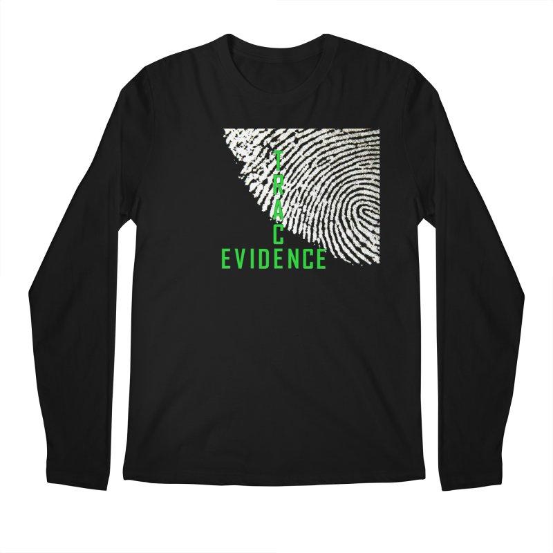 Text Logo - Green Men's Regular Longsleeve T-Shirt by Trace Evidence - A True Crime Podcast