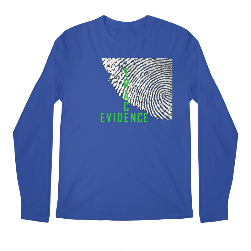 Text Logo - Green Men's Regular Longsleeve T-Shirt by Trace Evidence - A True Crime Podcast