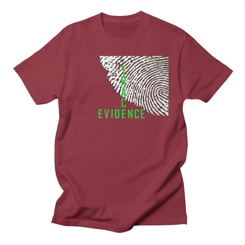 Text Logo - Green Men's Regular T-Shirt by Trace Evidence - A True Crime Podcast