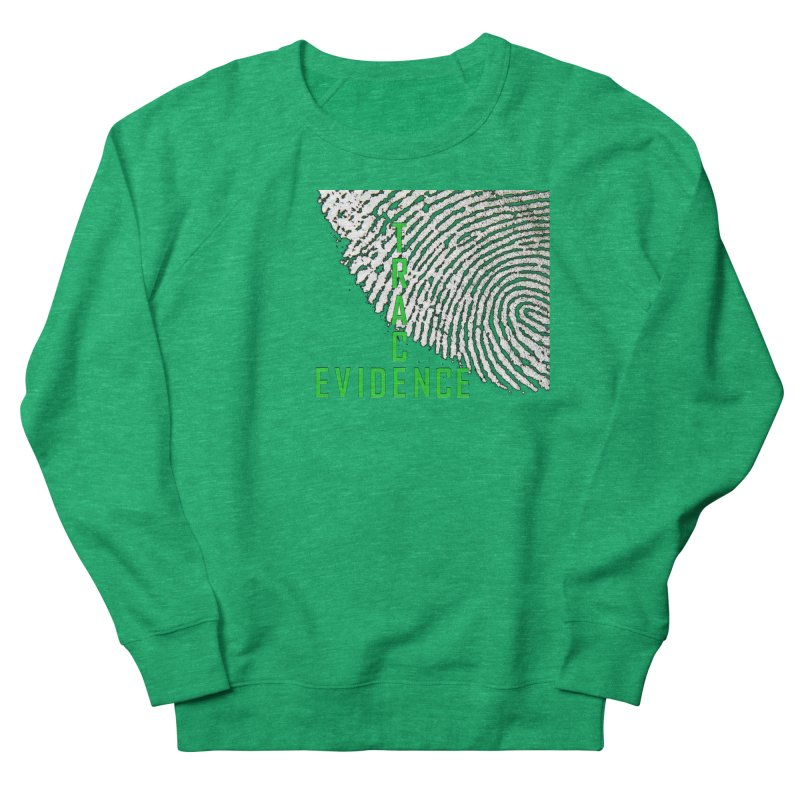 Text Logo - Green Women's Sweatshirt by Trace Evidence - A True Crime Podcast