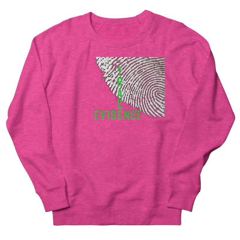 Text Logo - Green Men's French Terry Sweatshirt by Trace Evidence - A True Crime Podcast