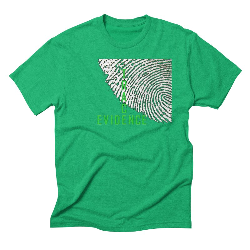 Text Logo - Green Men's Triblend T-Shirt by Trace Evidence - A True Crime Podcast