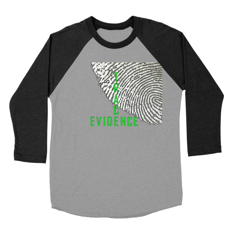 Text Logo - Green Men's Baseball Triblend Longsleeve T-Shirt by Trace Evidence - A True Crime Podcast