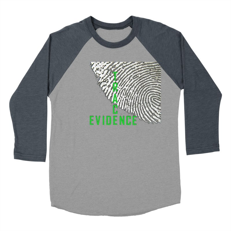 Text Logo - Green Men's Baseball Triblend Longsleeve T-Shirt by Trace Evidence - A True Crime Podcast